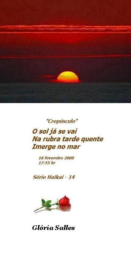 """"""" Crepúsculo"""" Série haikai - 14"""
