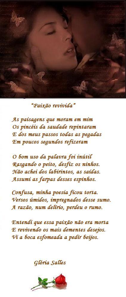 """""""Paixão revivida""""   Soneto"""