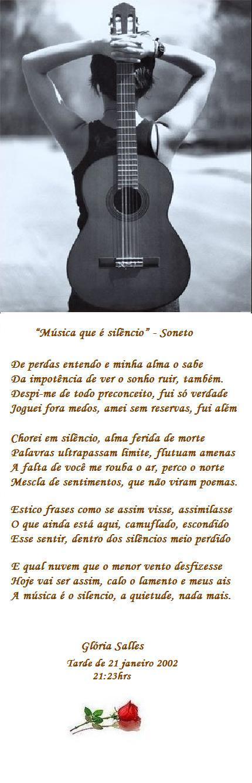 """""""Música que é silêncio"""" - Soneto"""