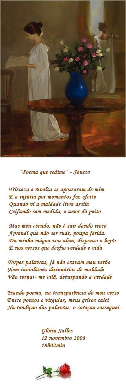 """""""Poema que redime"""" - Soneto"""