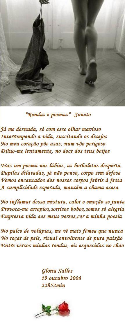 """Poemas e rendas"" - Soneto"