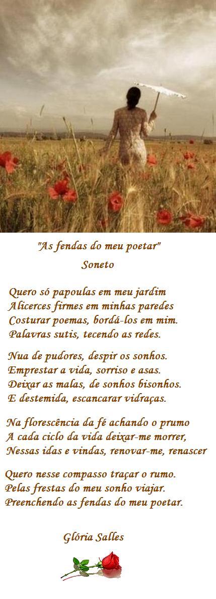 """""""As fendas do meu poetar"""" - Soneto"""